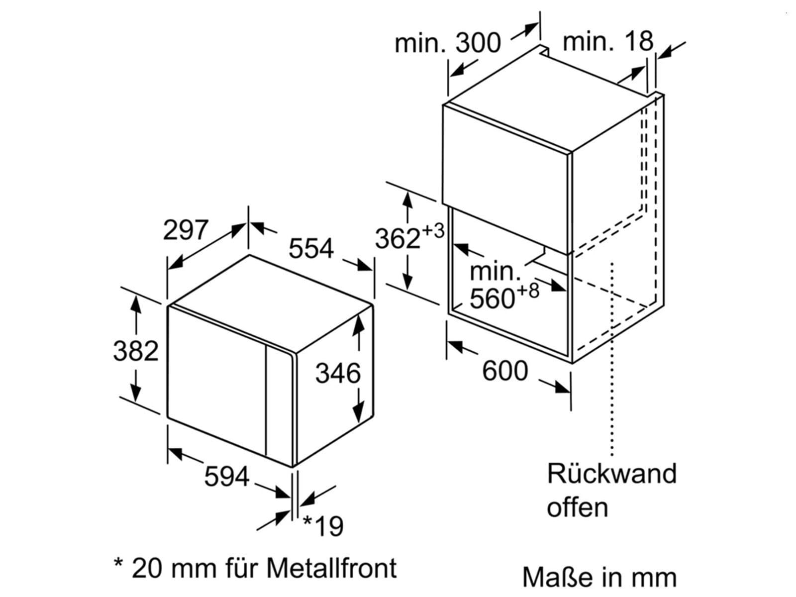 bosch bfl524mb0 einbau mikrowelle vulkan schwarz. Black Bedroom Furniture Sets. Home Design Ideas