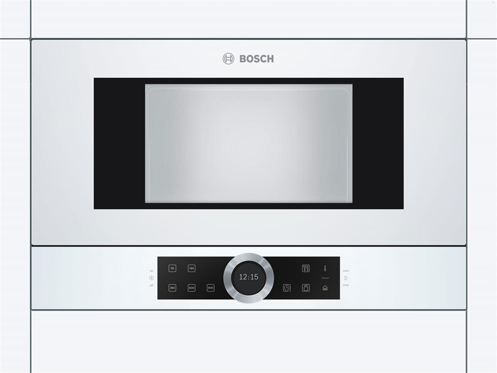 Bosch BFL634GW1 Einbau-Mikrowelle Polar weiß