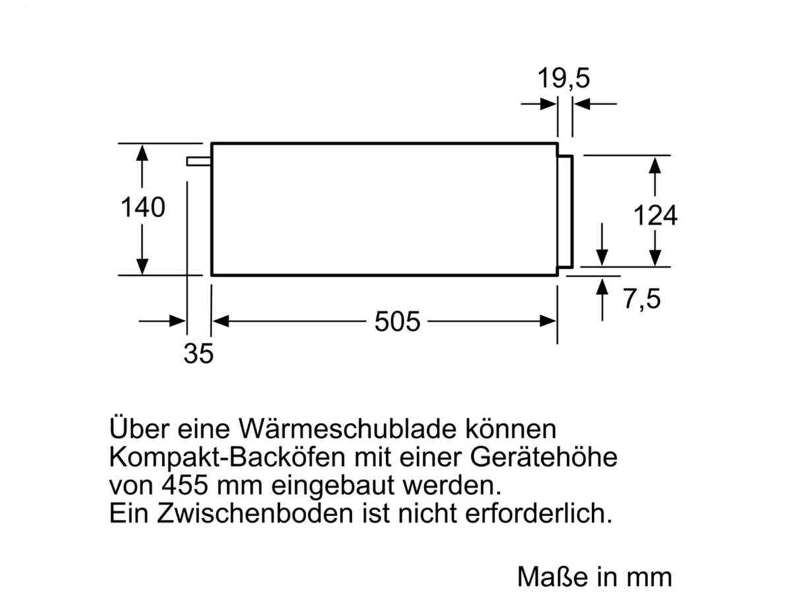 Bosch BIC510NS0 Wärmeschublade Edelstahl