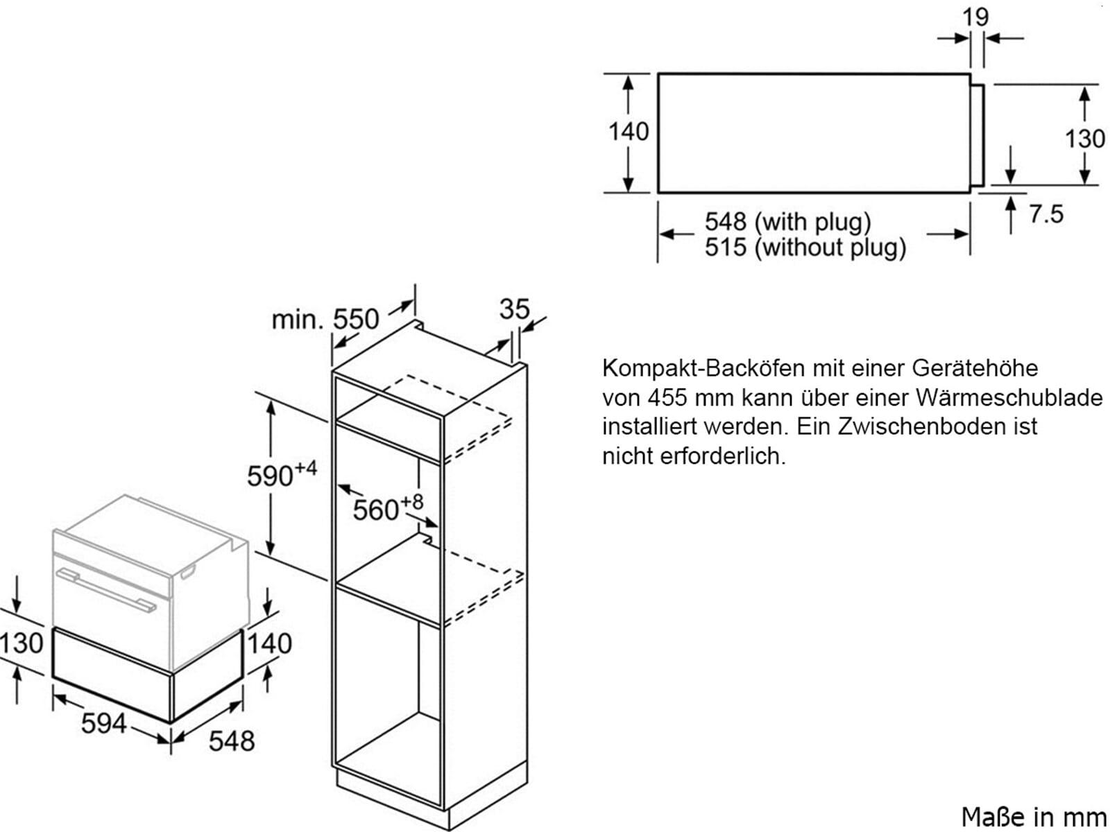 Bosch BIC630NW1 Wärmeschublade Polar weiß