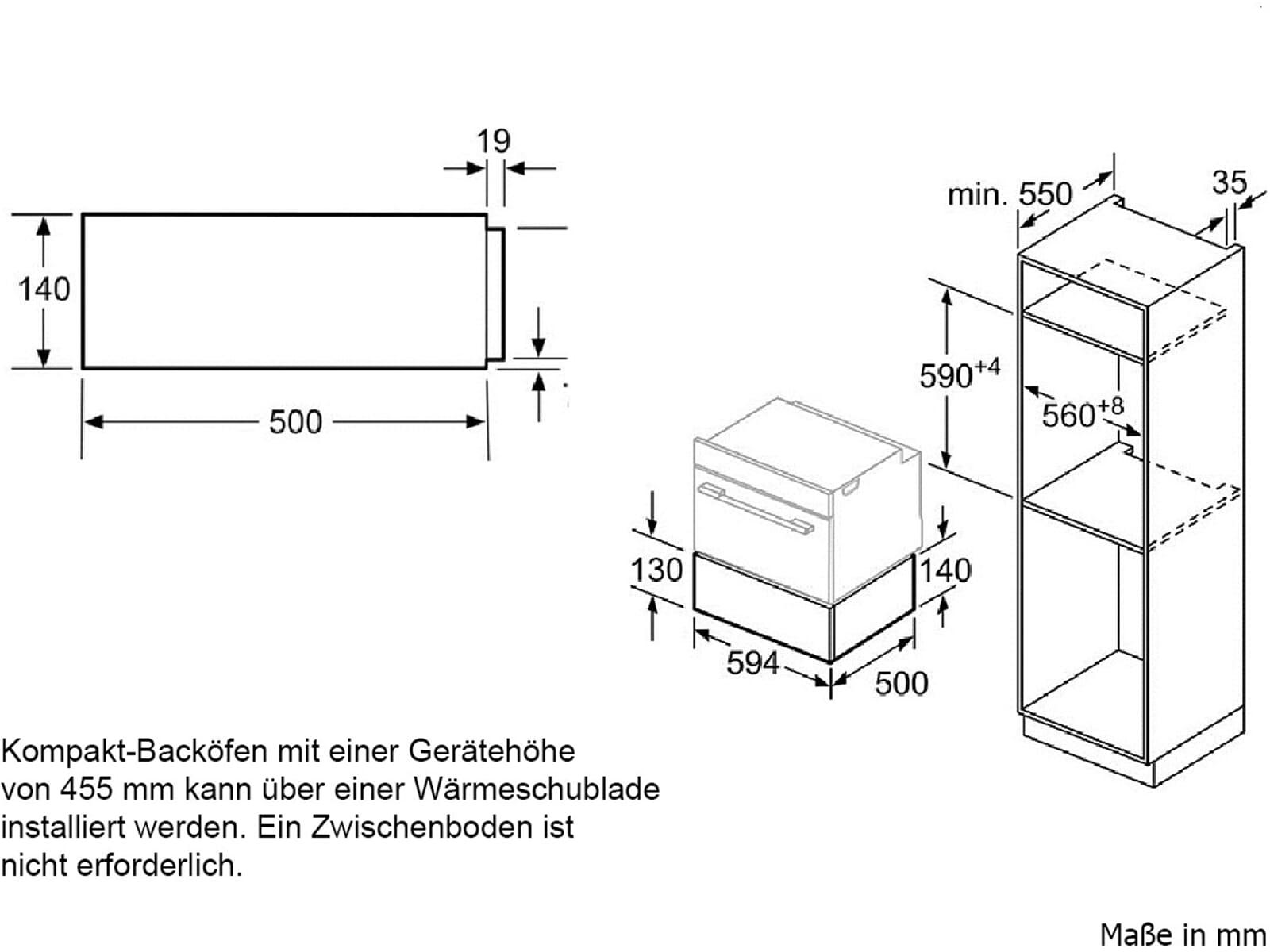 Bosch BIE630NS1 Zubehörschublade Edelstahl
