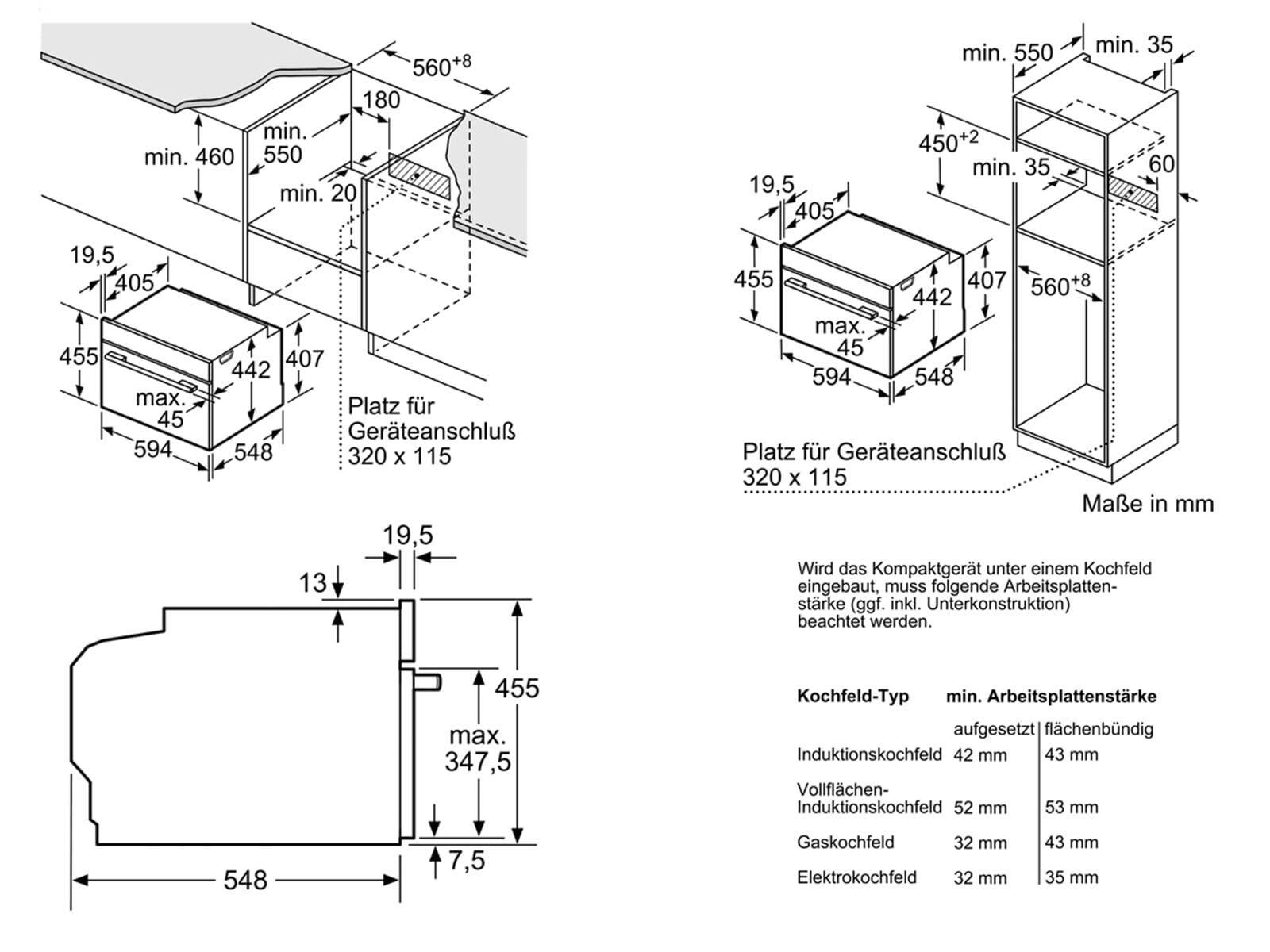 Bosch CBG675BS3 Pyrolyse Kompaktbackofen Edelstahl