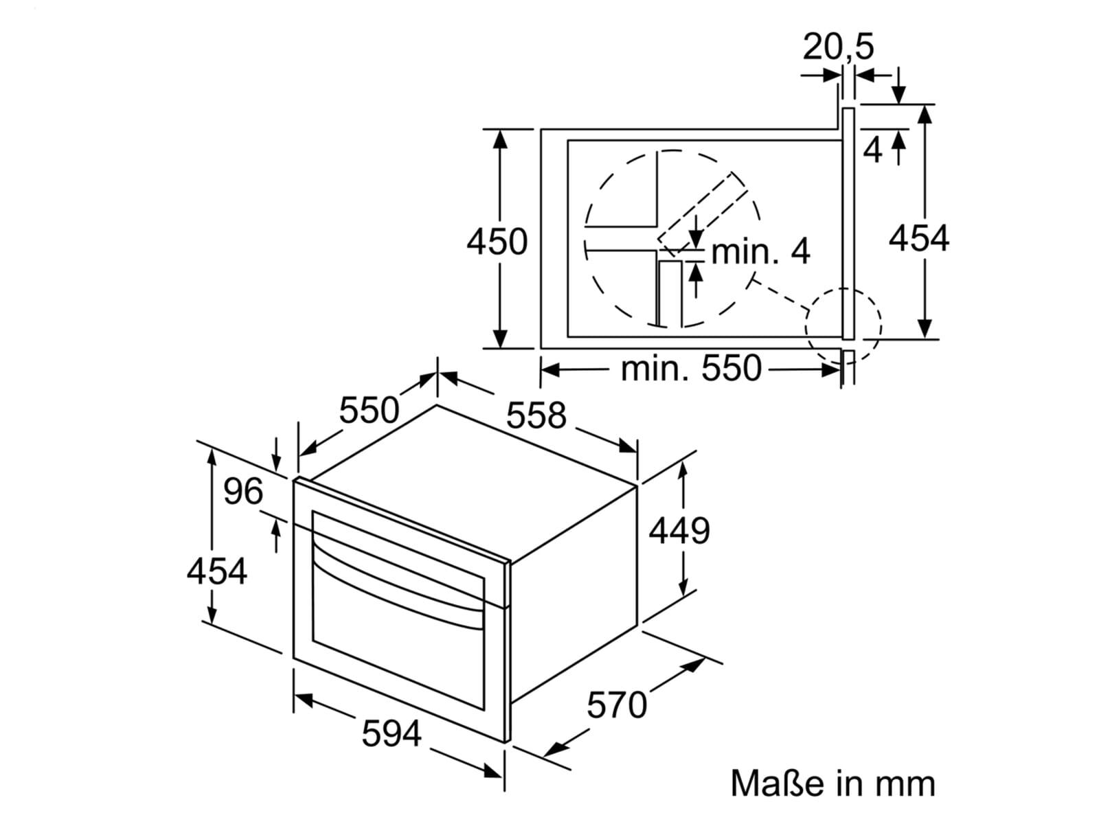 Bosch CMA585GS0 Kompaktbackofen mit Mikrowelle Edelstahl