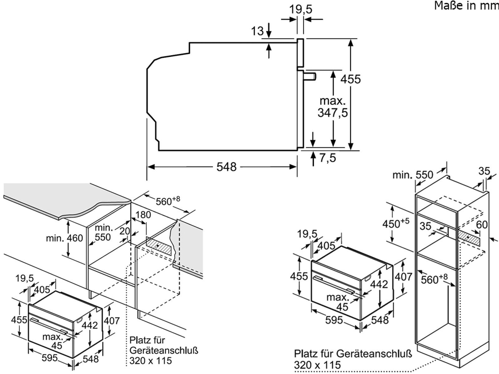 Bosch CMG633BS1 Kompaktbackofen mit Mikrowelle Edelstahl