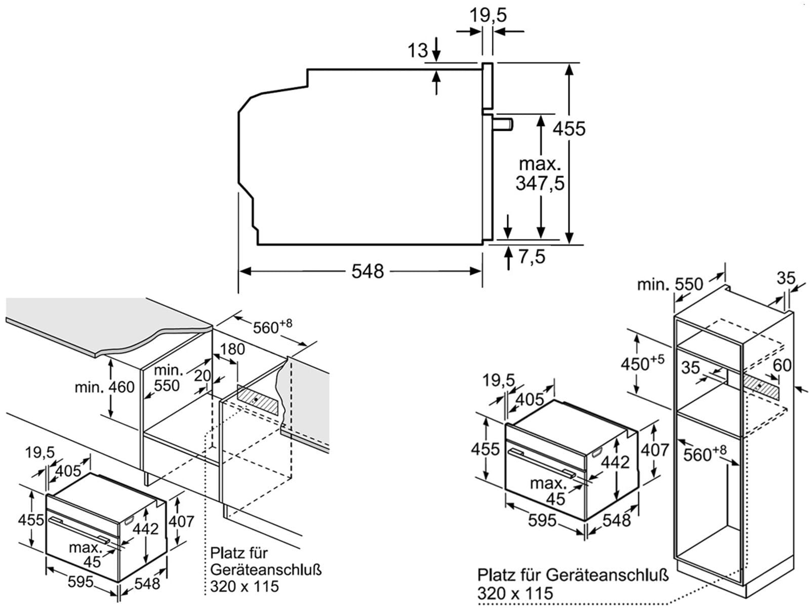 Bosch CMG636BS2 Kompaktbackofen mit Mikrowelle Edelstahl