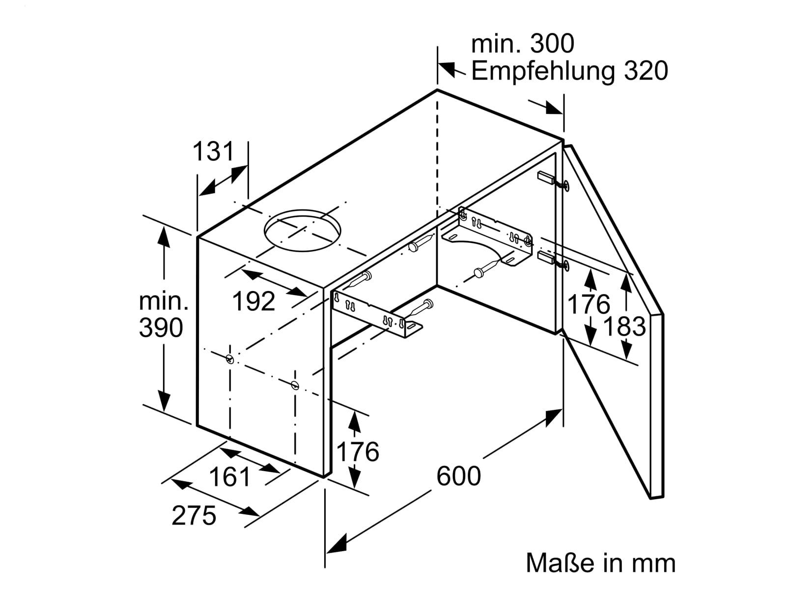 Bosch DFL063W56 Flachschirmhaube 60 cm Silbermetallic