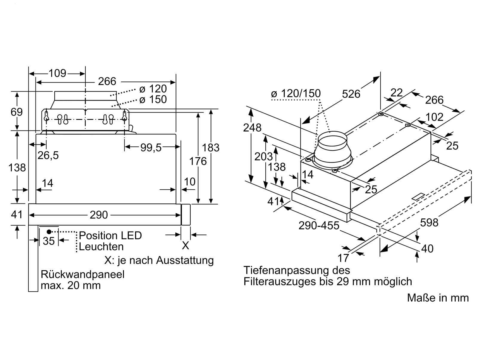 Bosch DFL064A52 Flachschirmhaube 60 cm Silbermetallic