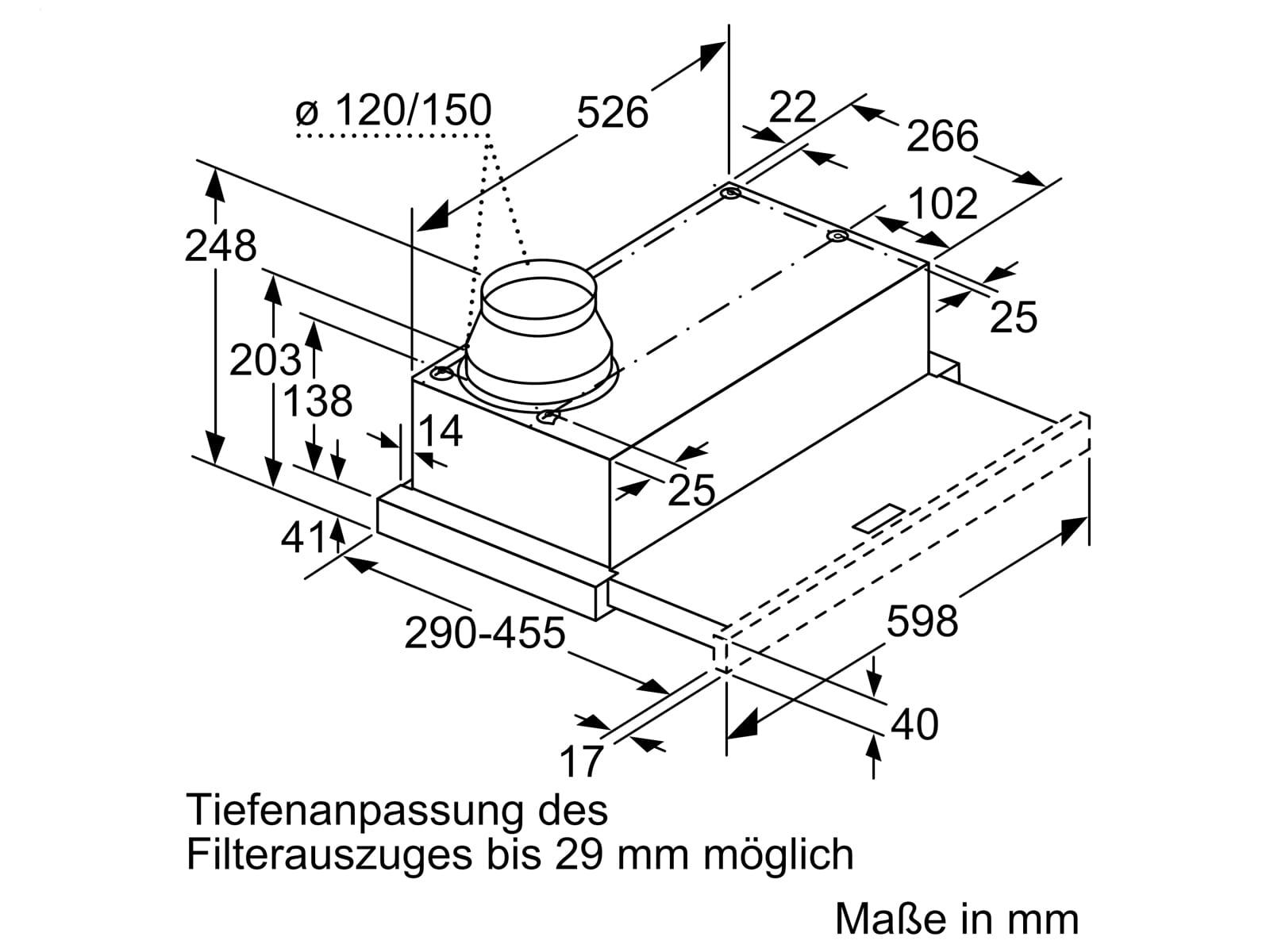 Bosch DFL064W53 Flachschirmhaube 60 cm Silbermetallic