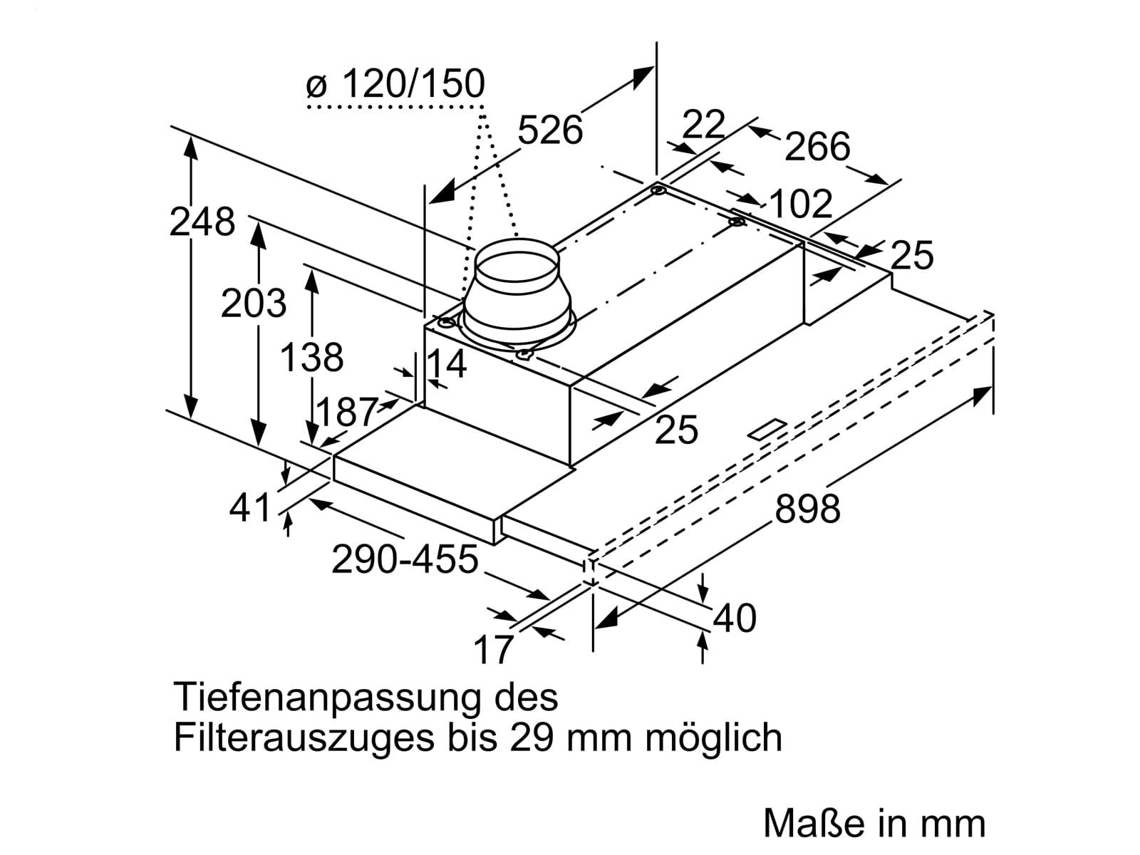 Bosch DFL094A51 Flachschirmhaube 90 cm Silbermetallic