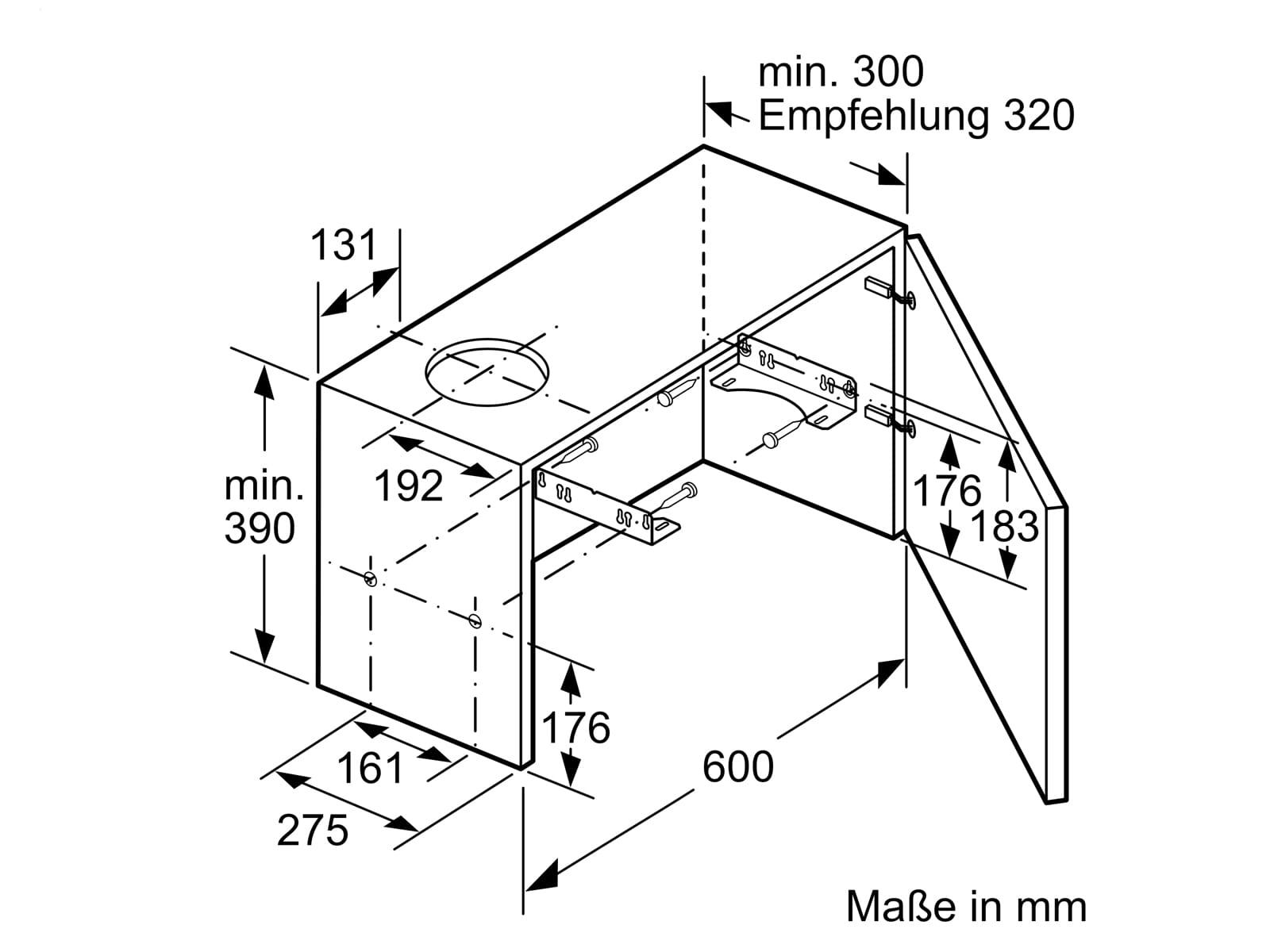 Bosch DFM064W54 Flachschirmhaube 60 cm Silbermetallic