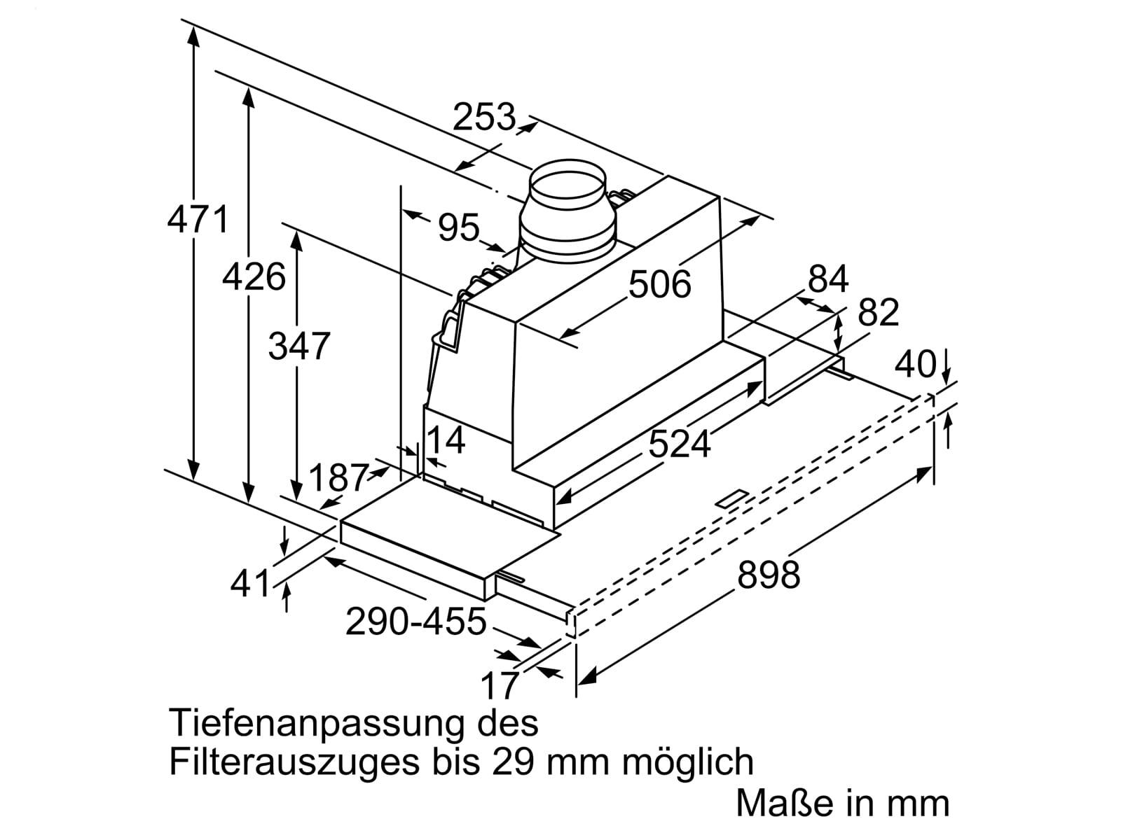 Bosch DFR097A52 Flachschirmhaube 90 cm Silbermetallic