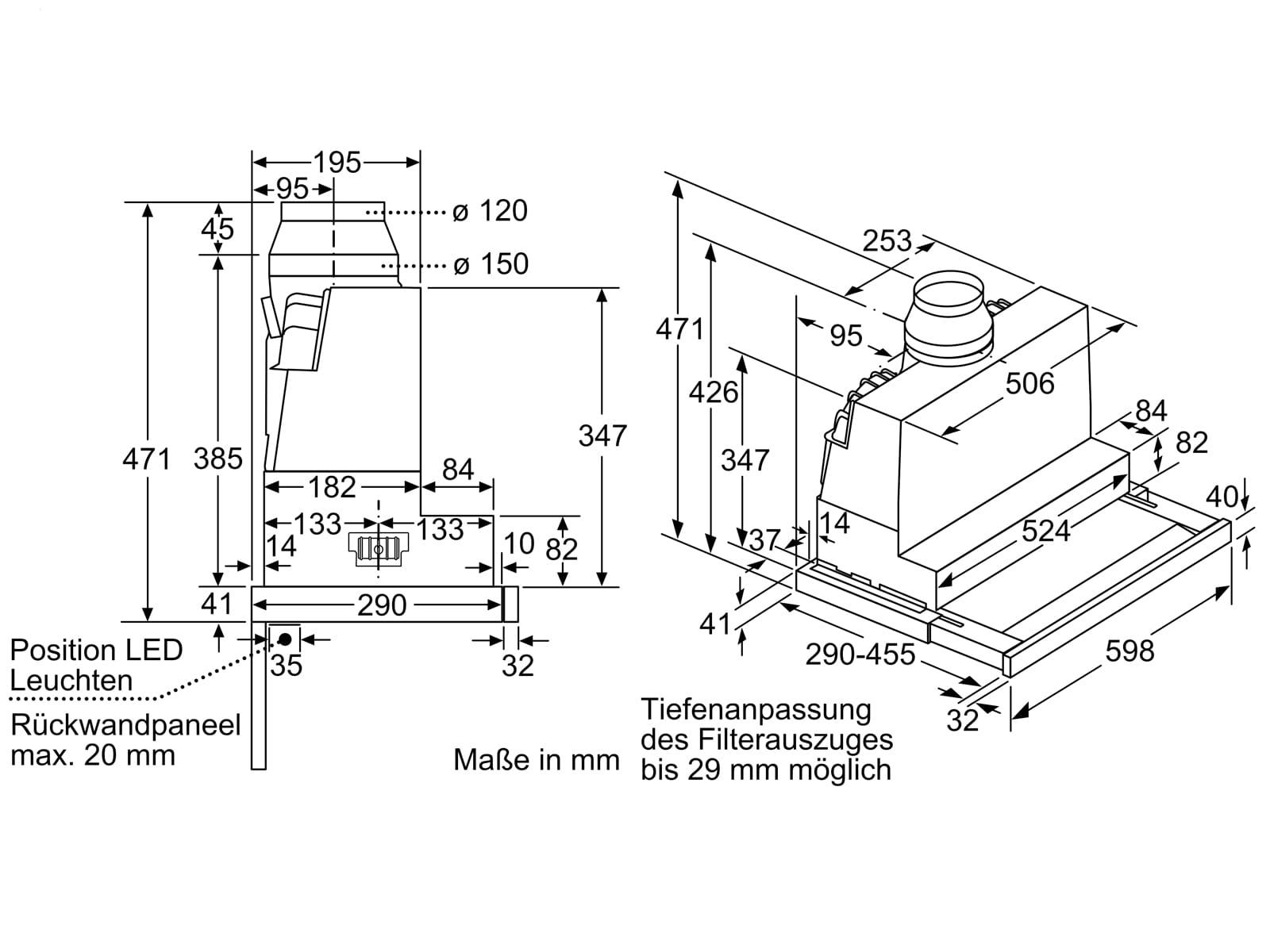Bosch DFS067K51 Flachschirmhaube 60 cm Edelstahl