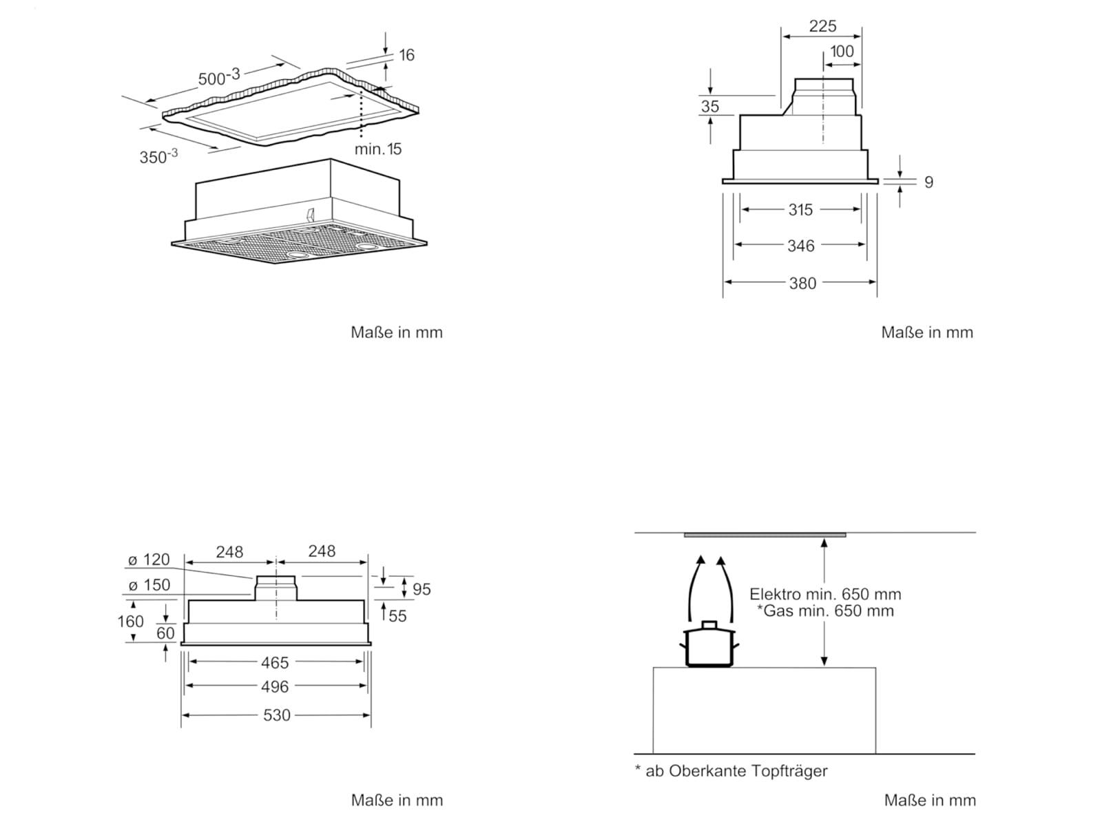Bosch DHL555BL Lüfterbaustein grau-metallic