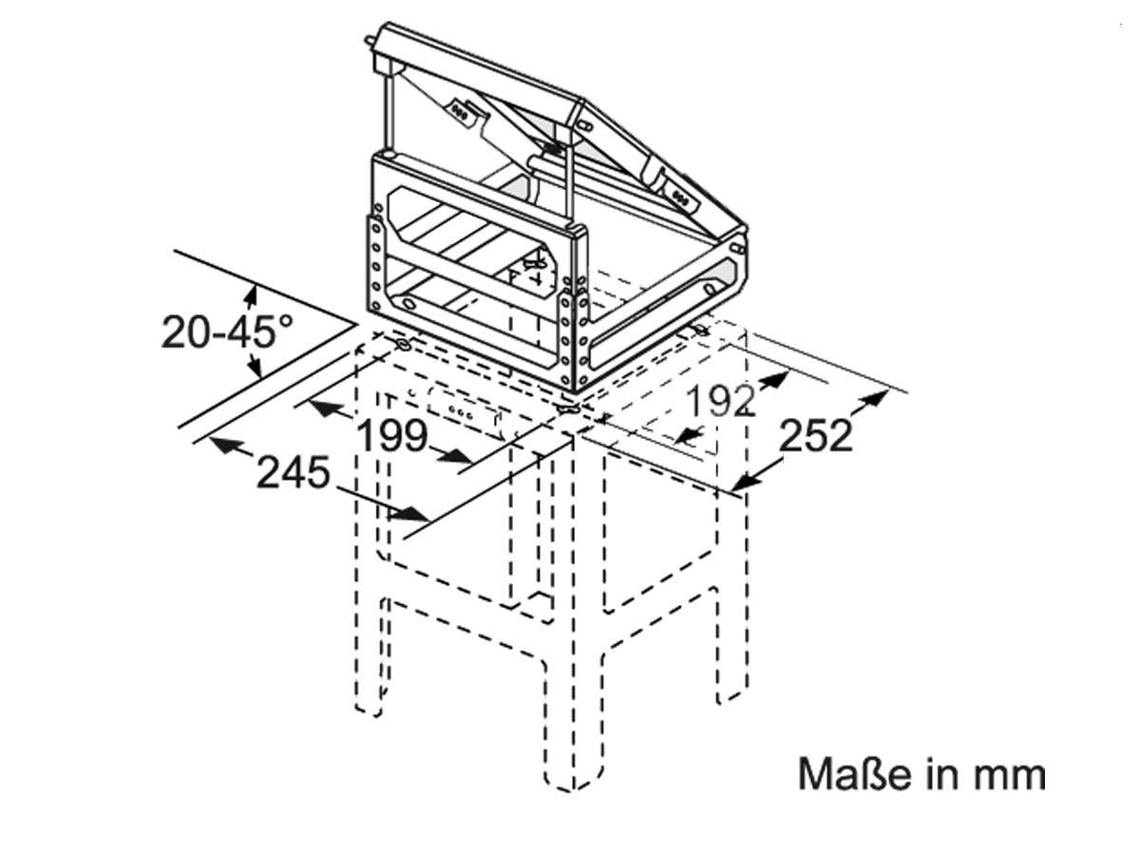 Bosch DHZ1230 Adapter für Dachschrägen links / rechts