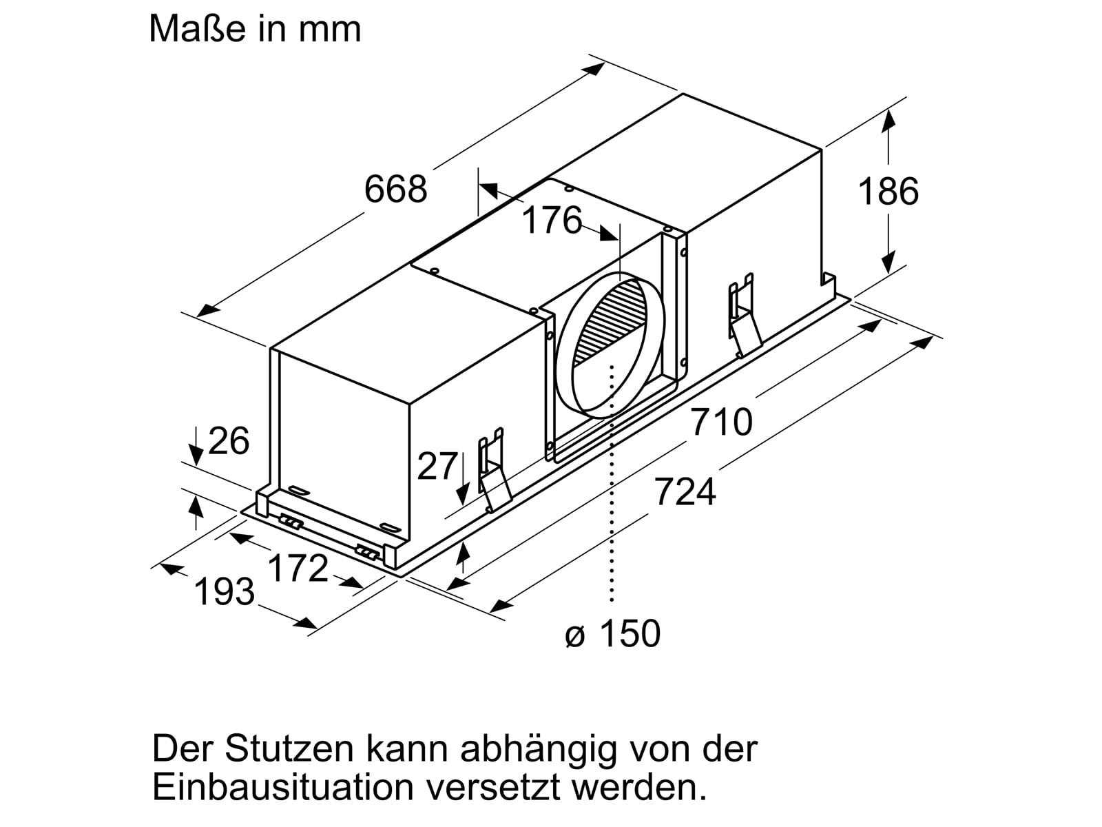 Bosch DIZ1JX5C1 Clean Air Standard Umluftset Edelstahl