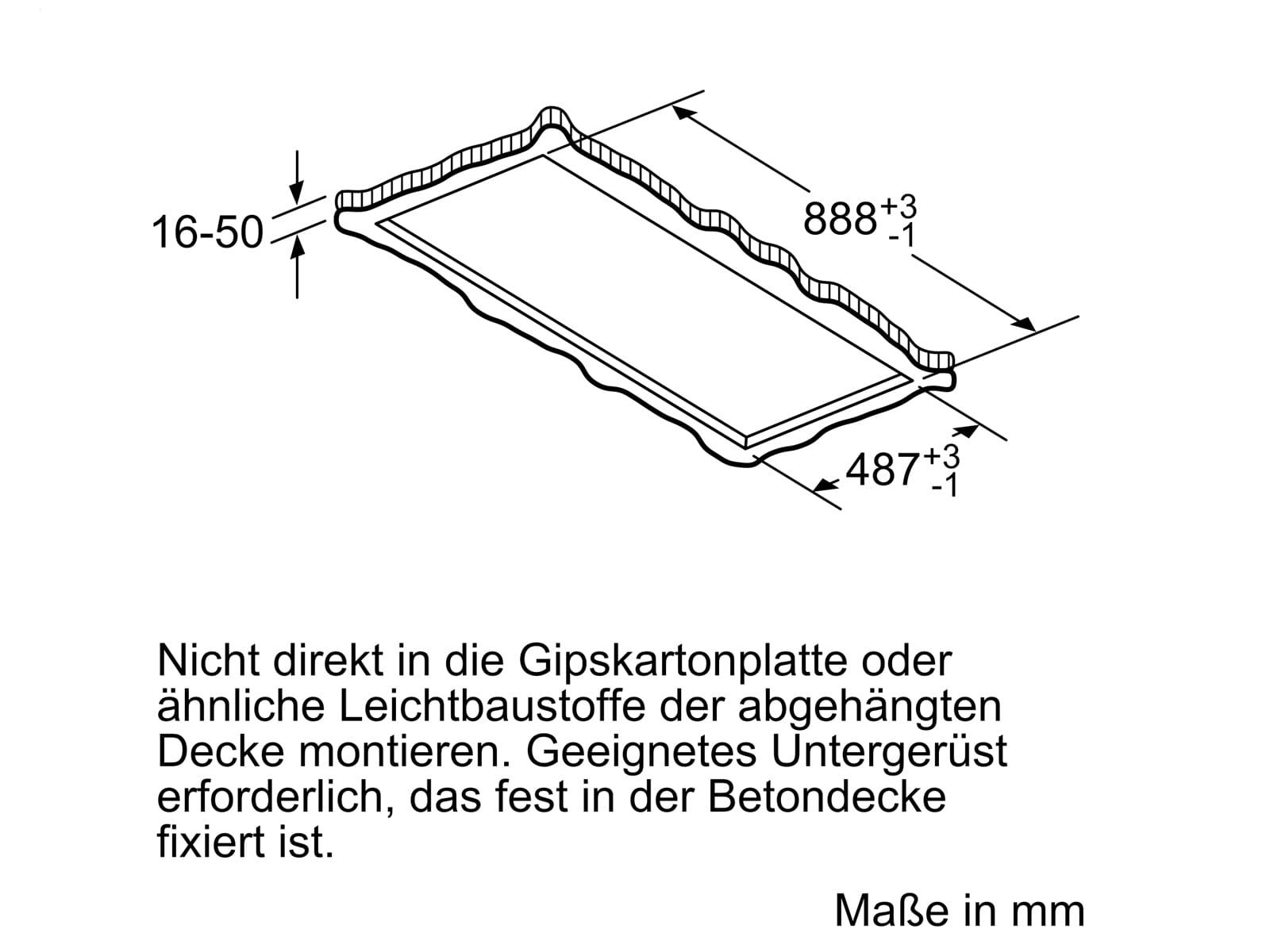 Bosch DRC96AQ50 Deckenhaube 90 cm Edelstahl