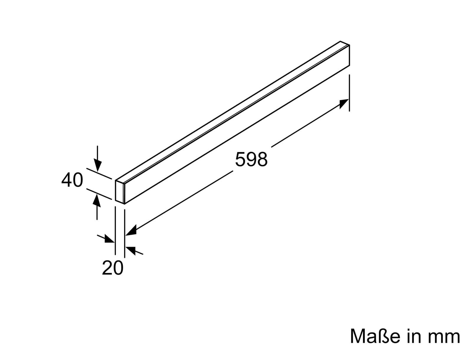 Bosch DSZ4682 Griffleiste Weiß