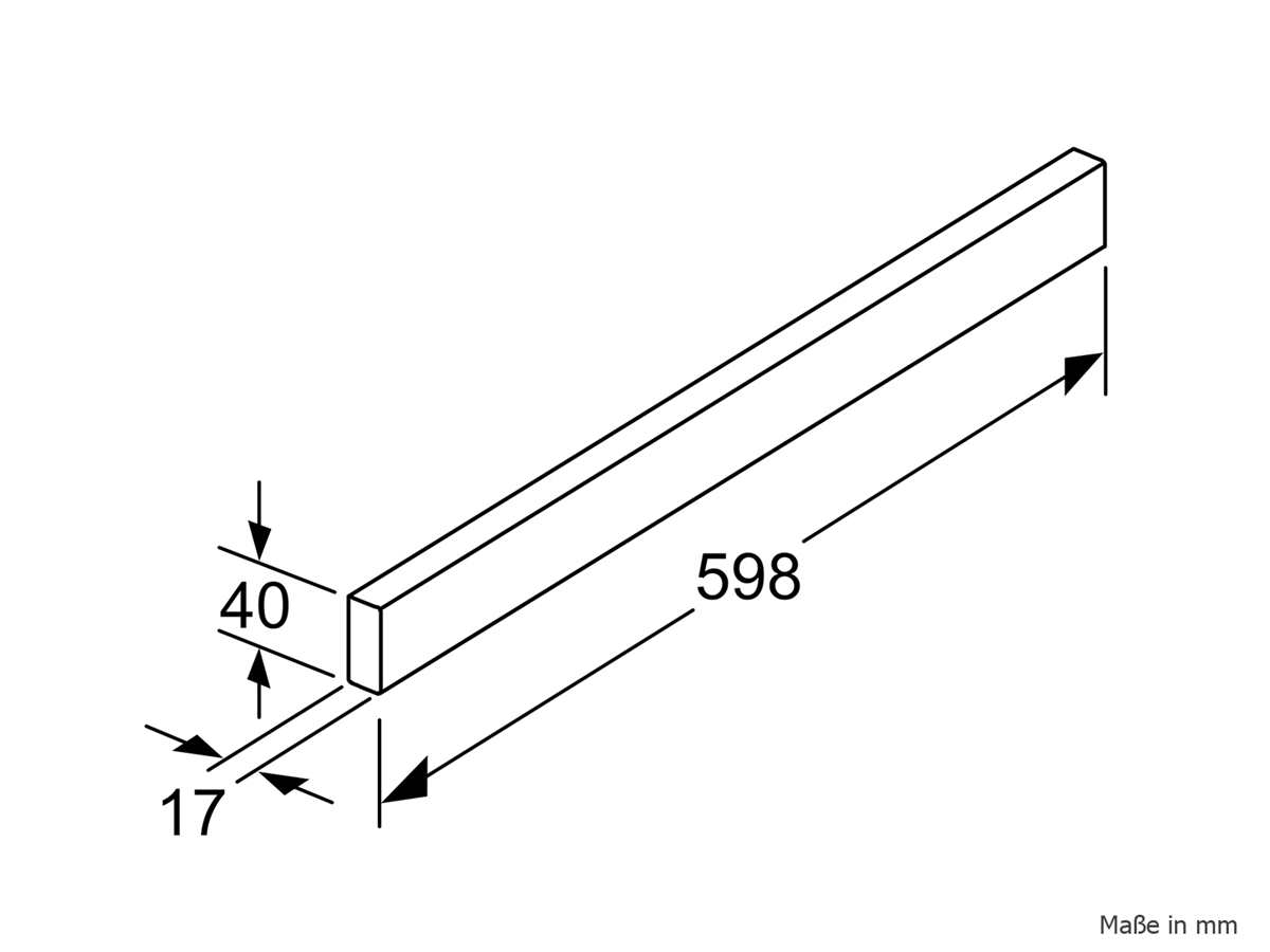 Bosch DSZ4685 Griffleiste Edelstahl