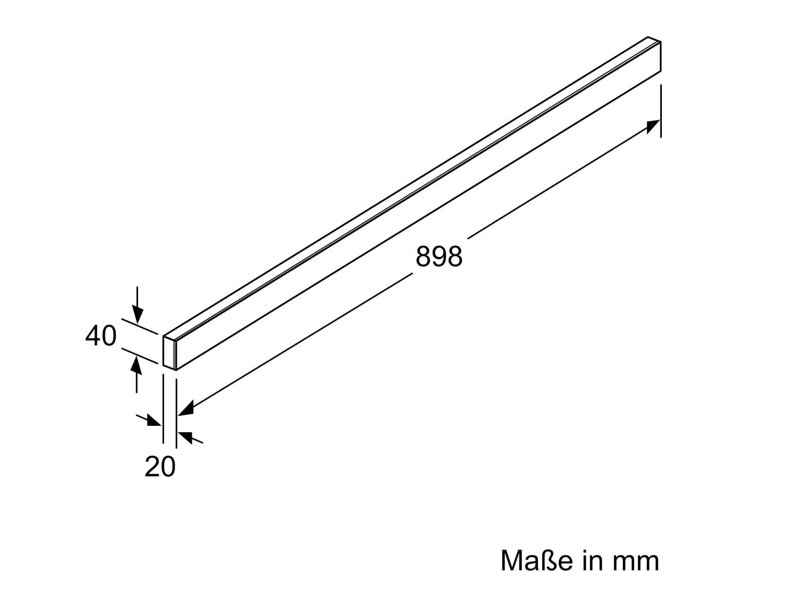 Bosch DSZ4982 Griffleiste Weiß