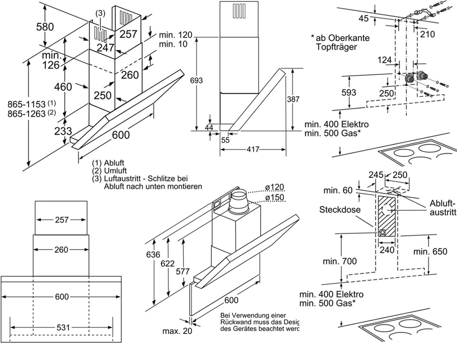 Bosch Dwk068e50 Kopffreihaube Edelstahl