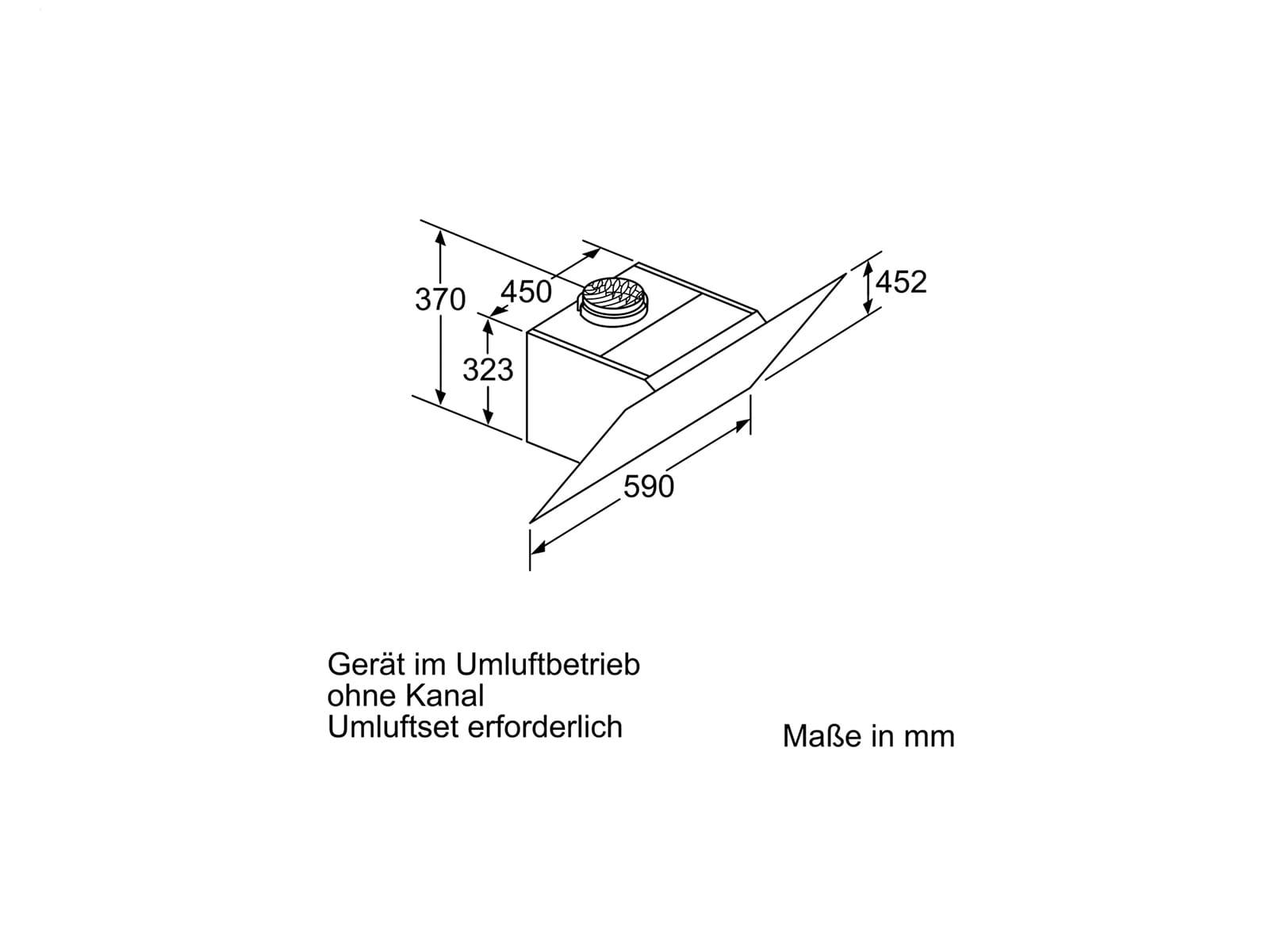 Bosch DWK67CM20 Kopffreihaube 60 cm Weiß mit Glasschirm