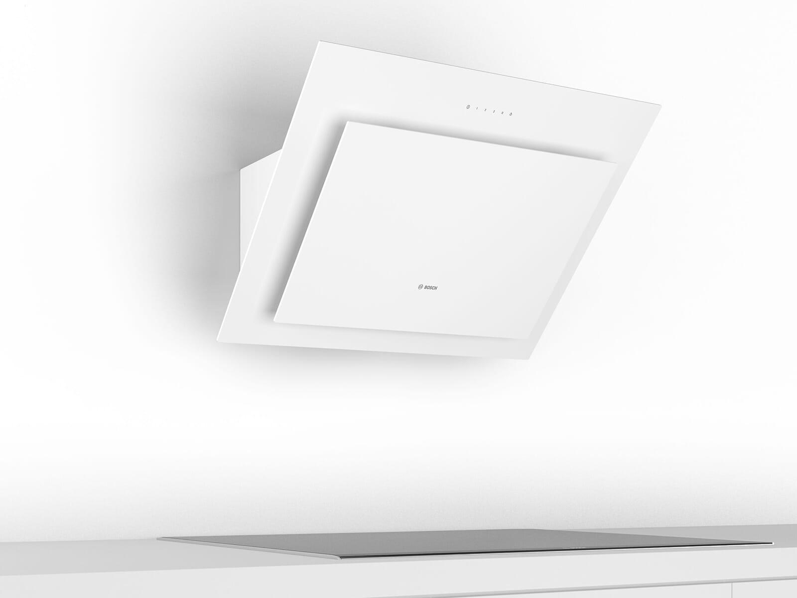 Bosch DWK87CM20 Kopffreihaube 80 cm Weiß mit Glasschirm