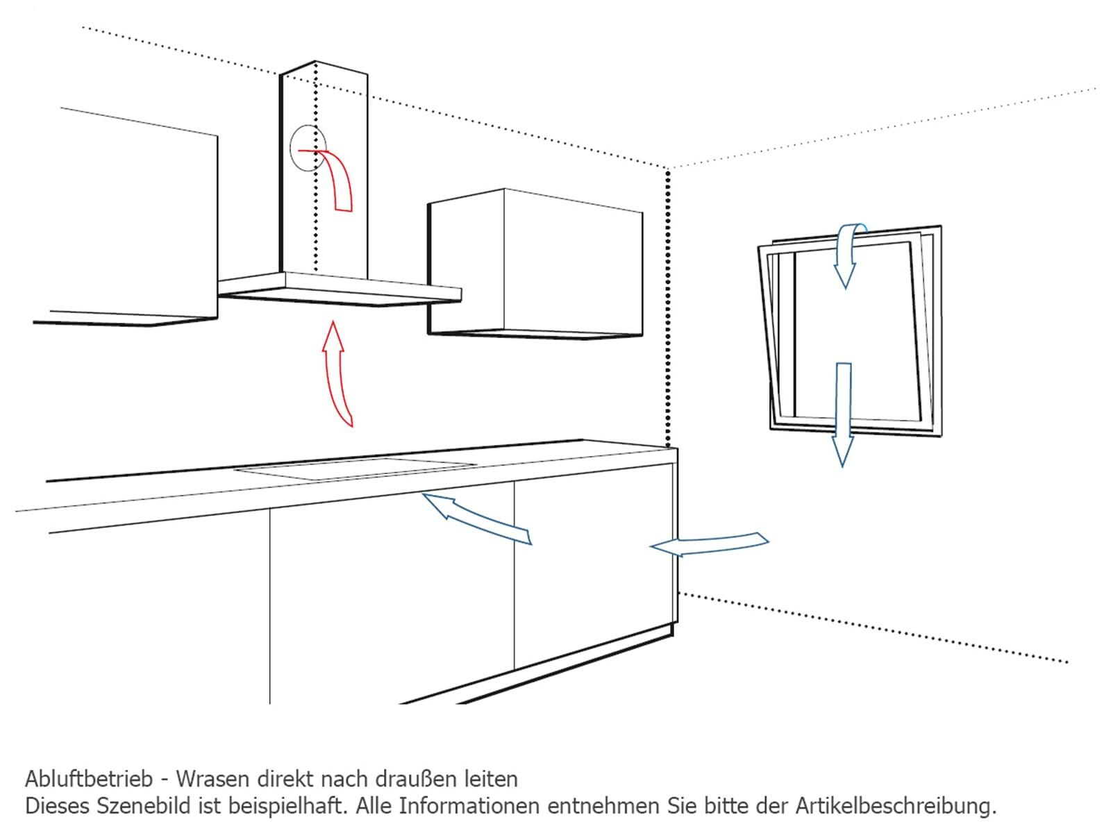 Bosch DIB091E51 Inselhaube Edelstahl