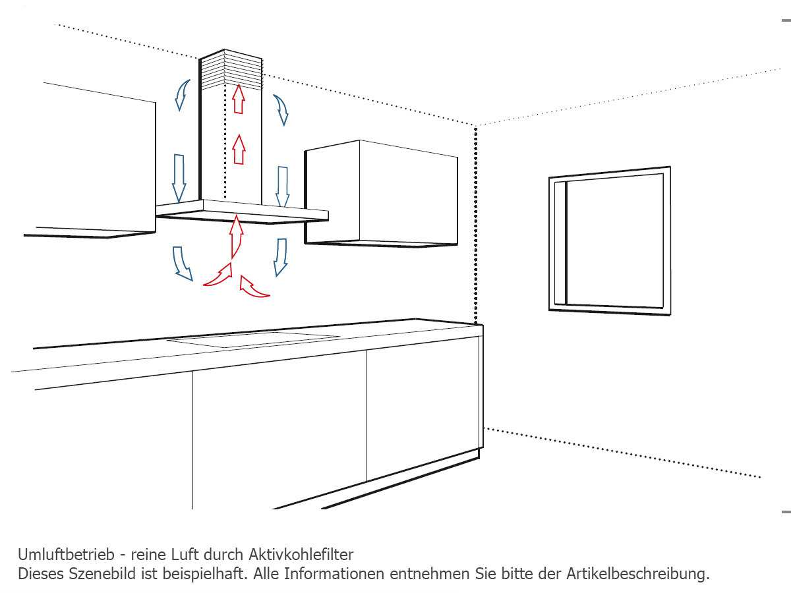 Bosch DIB091E50 Inselhaube Edelstahl
