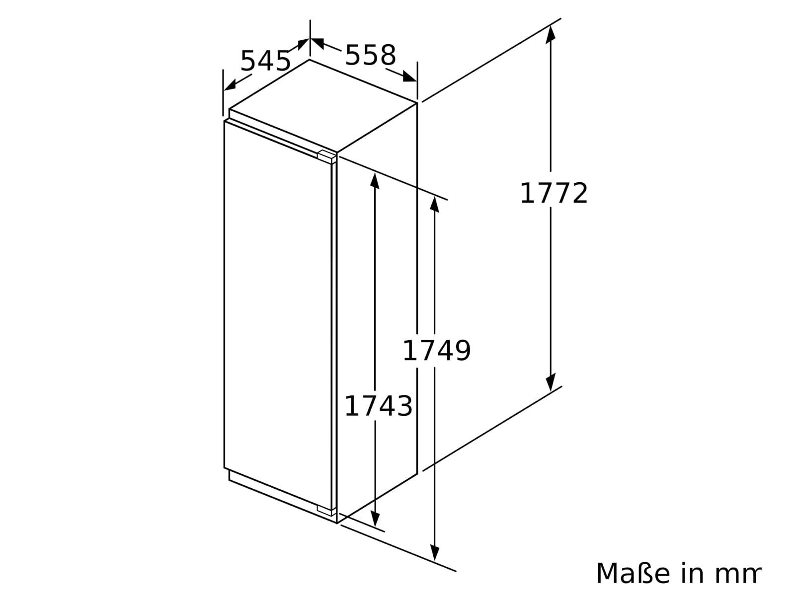 Bosch GIN81ACF0 Einbaugefrierschrank