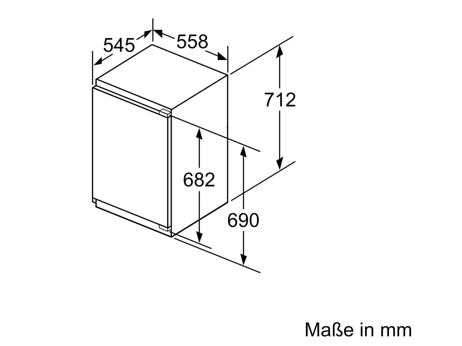 Bosch GIV11ADC0 Einbaugefrierschrank