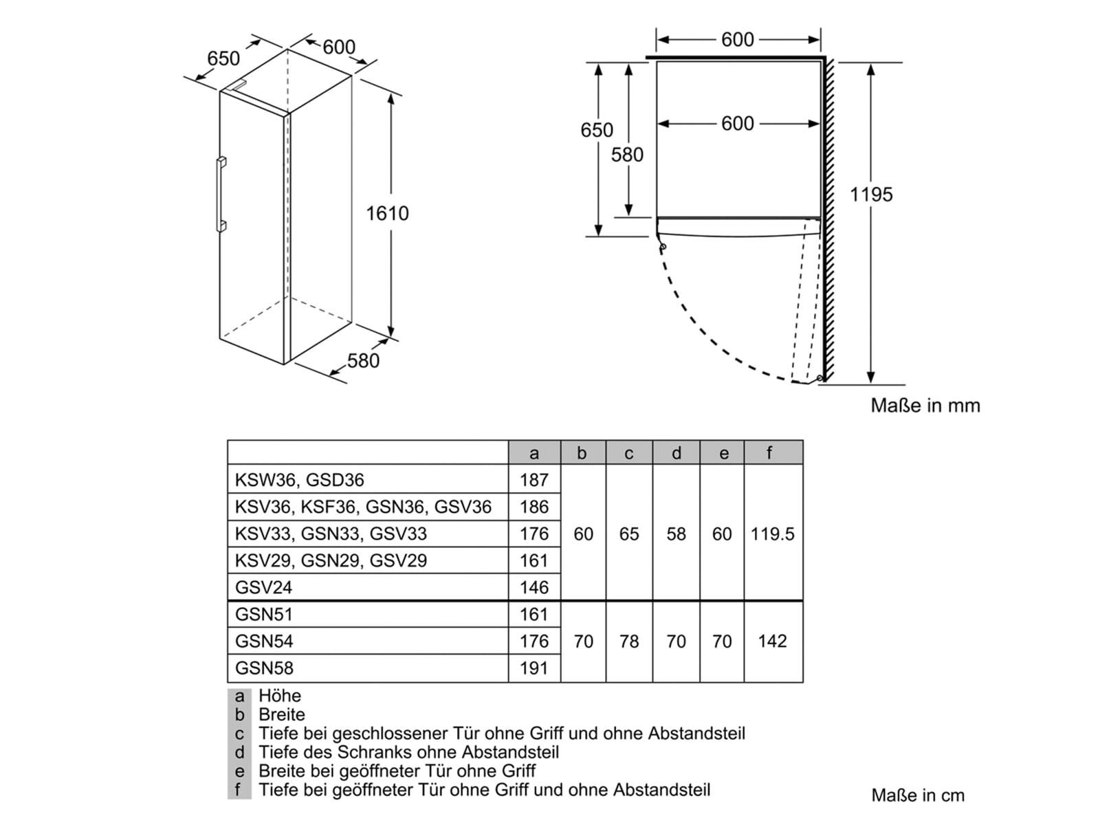 Bosch GSN29VW3P Standgefrierschrank Weiß