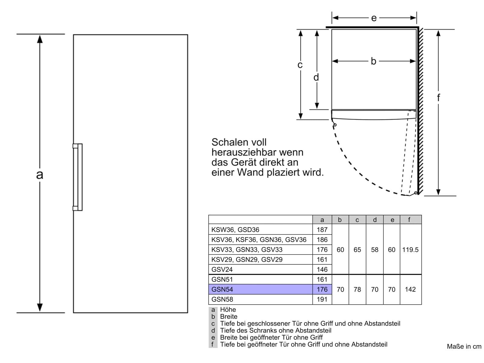 Bosch GSN54AWDV Standgefrierschrank Weiß