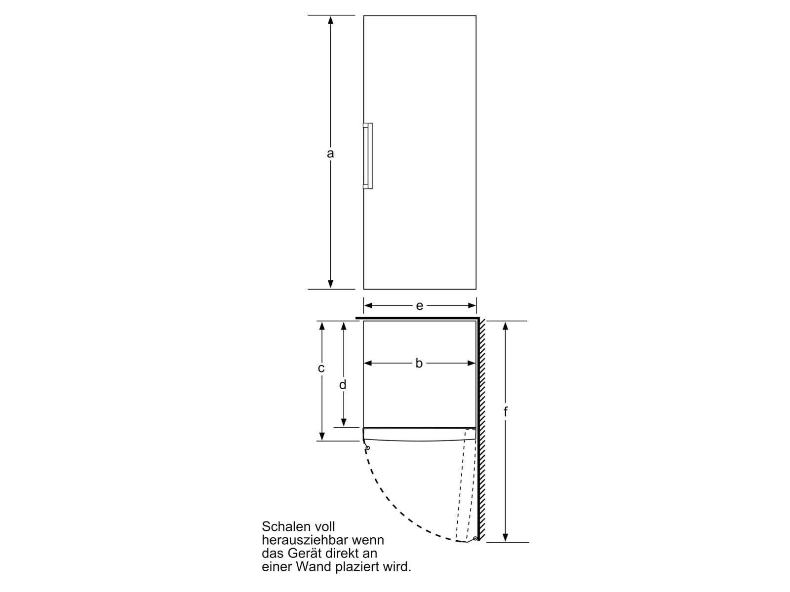 Bosch GSN58AWDP Standgefrierschrank Weiß