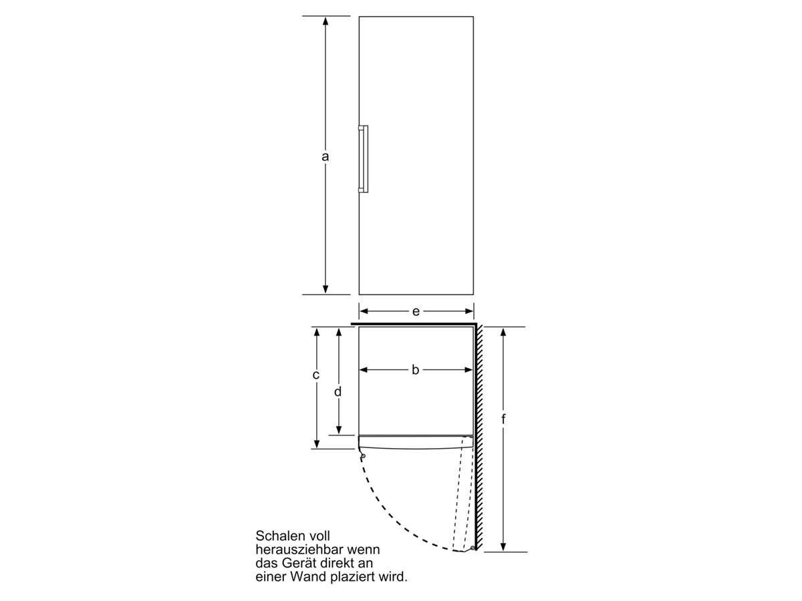 Bosch GSN58AWDV Standgefrierschrank Weiß