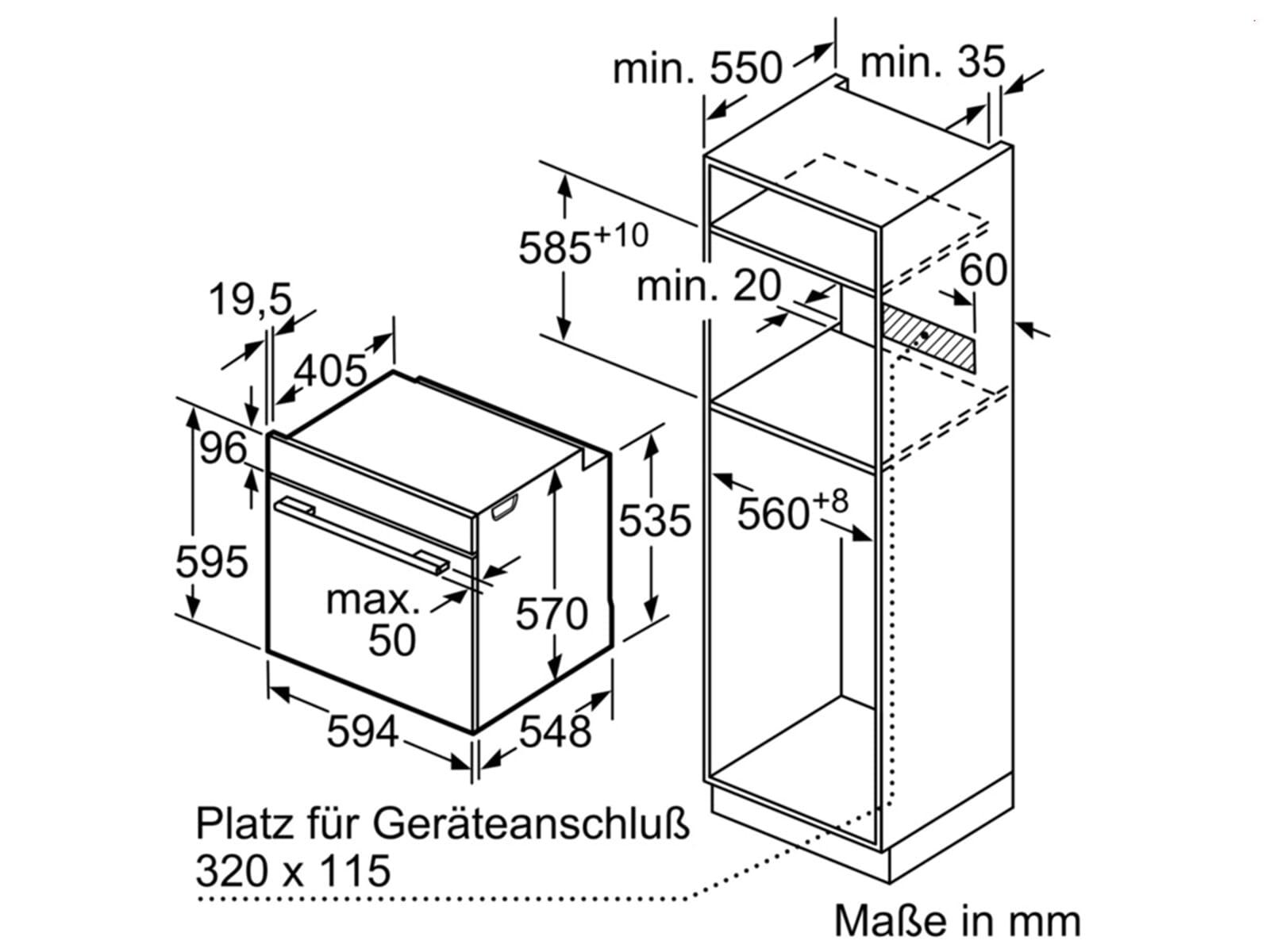 Bosch HBD435FH60 Set Backofen HBS233BS0 + Induktionskochfeld PIF645BB1E