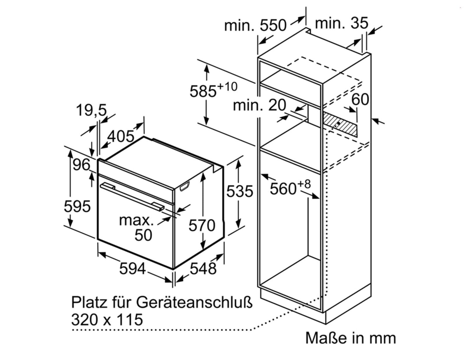 Bosch HBA578BS0 Pyrolyse Backofen Edelstahl