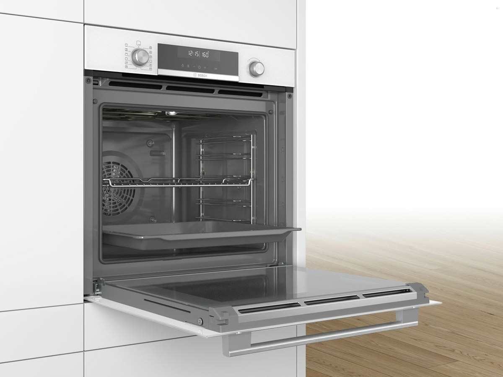 bosch hba578bw0 pyrolyse backofen polar wei. Black Bedroom Furniture Sets. Home Design Ideas