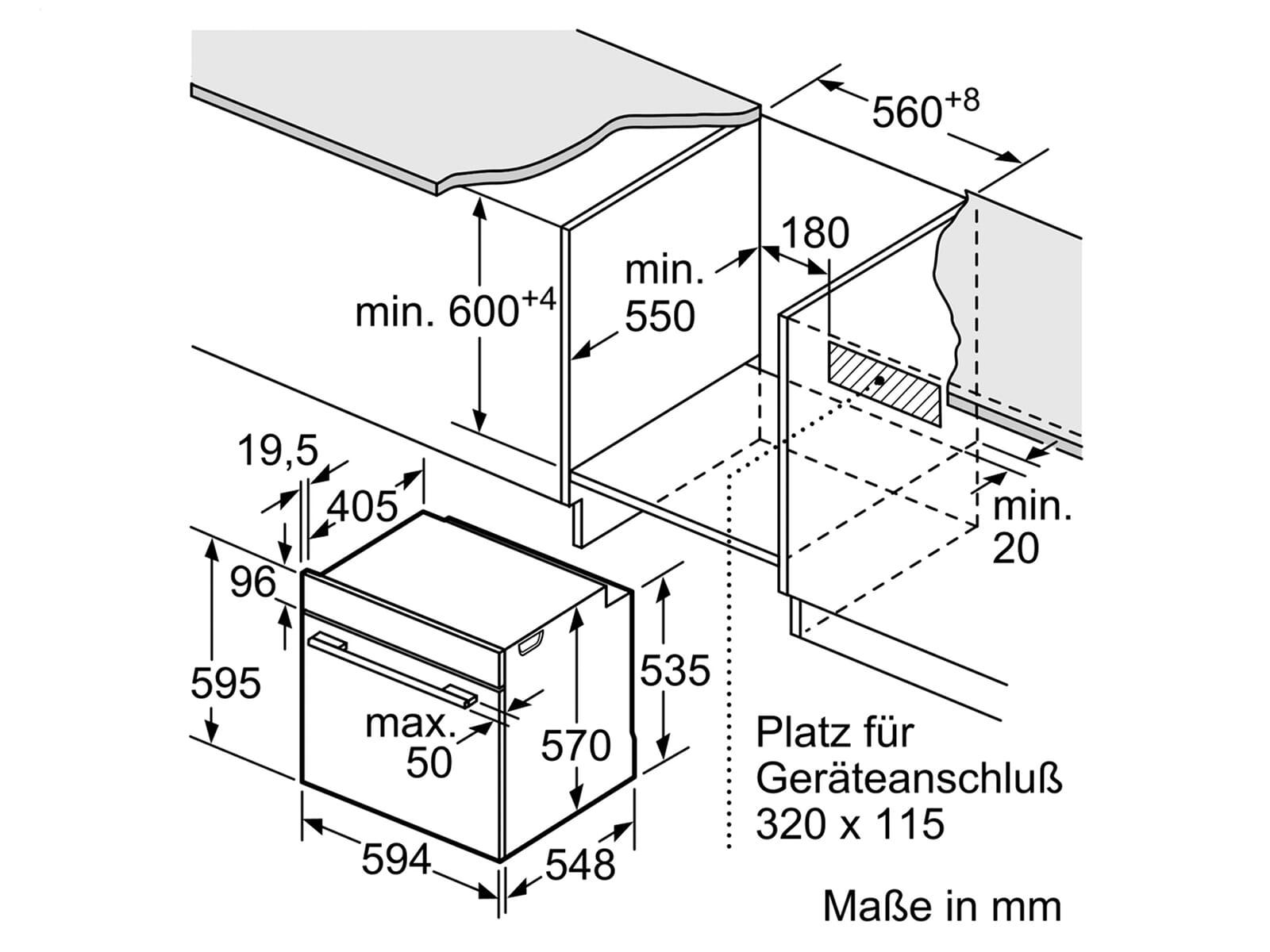 Bosch HBG579BS0 Pyrolyse Backofen Edelstahl