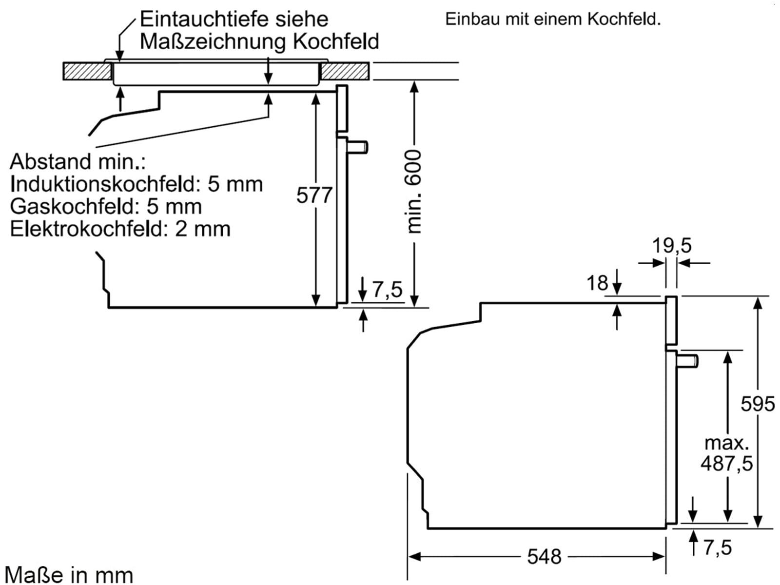 Bosch HBG632TS1 Backofen Edelstahl