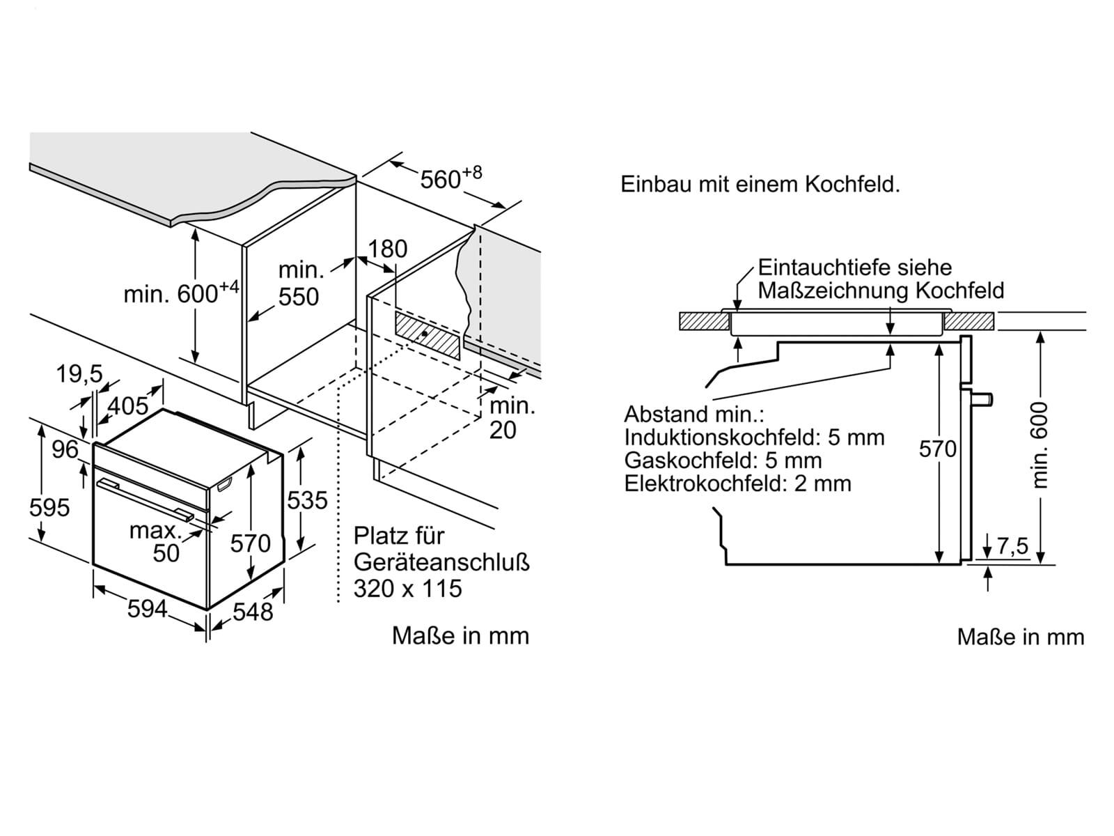 Bosch HEA510BS2 Einbauherd Edelstahl