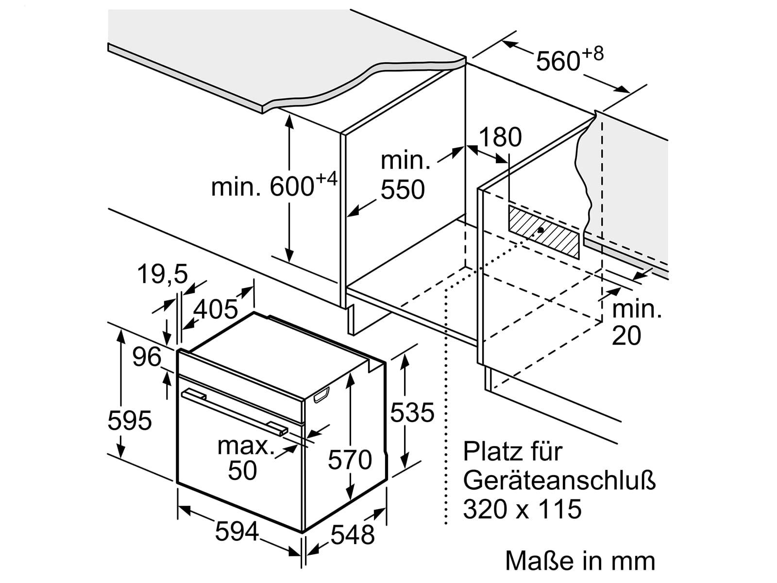 Bosch HND619LS60 Set Einbauherd HEA5174S1 Edelstahl + Induktionskochfeld NXX645CB1E
