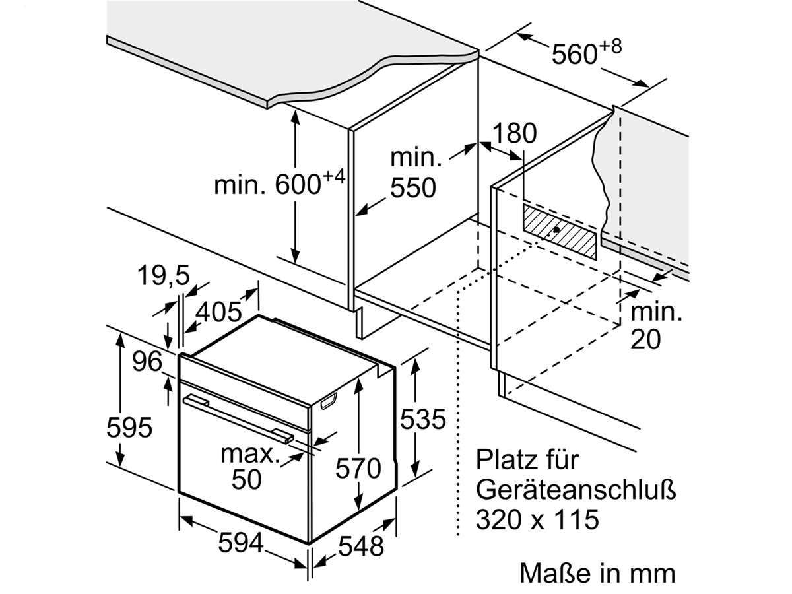 Bosch HEA537BS1 Einbauherd Edelstahl