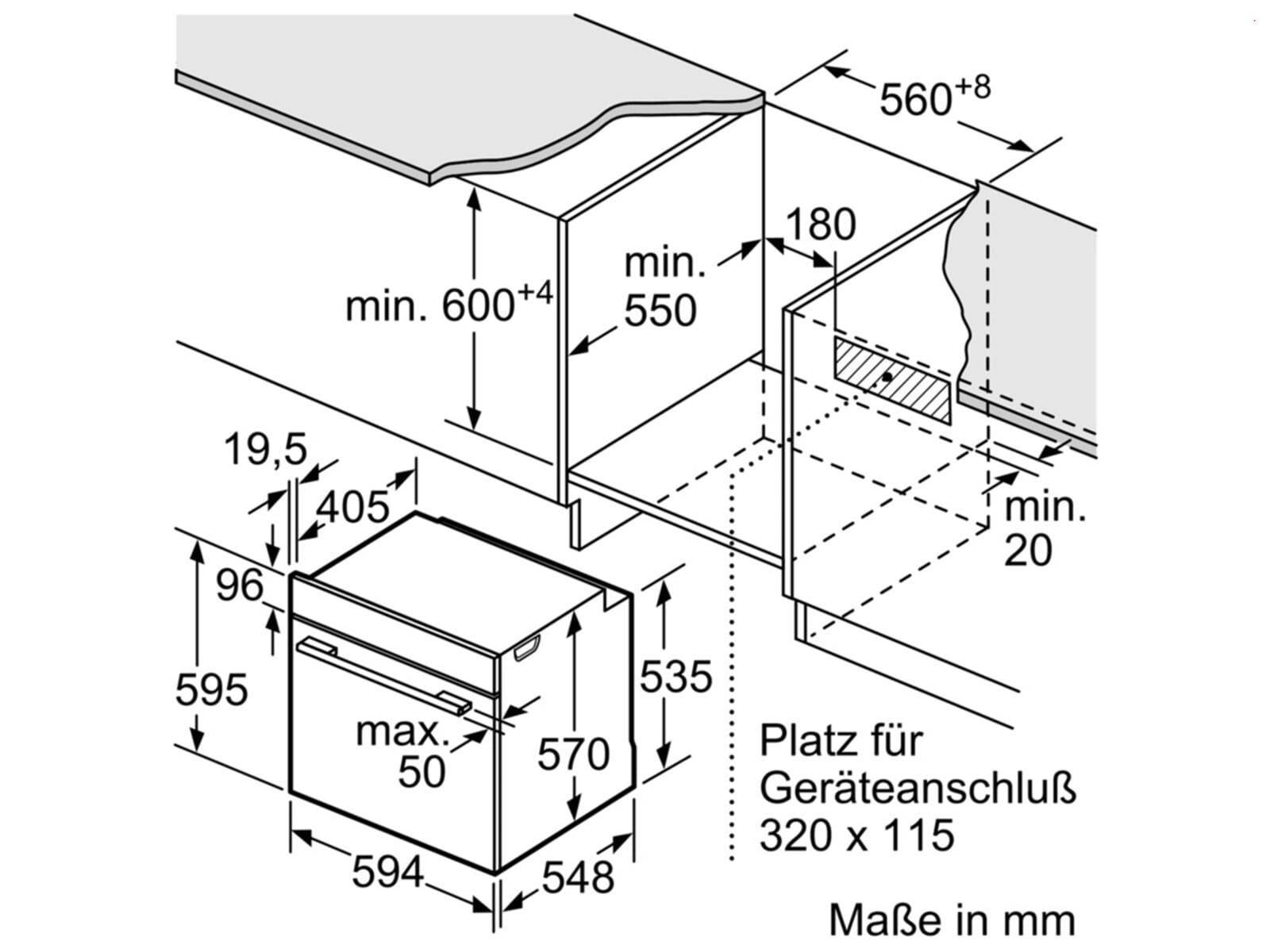 Bosch HEA578BS1 Pyrolyse Einbauherd Edelstahl