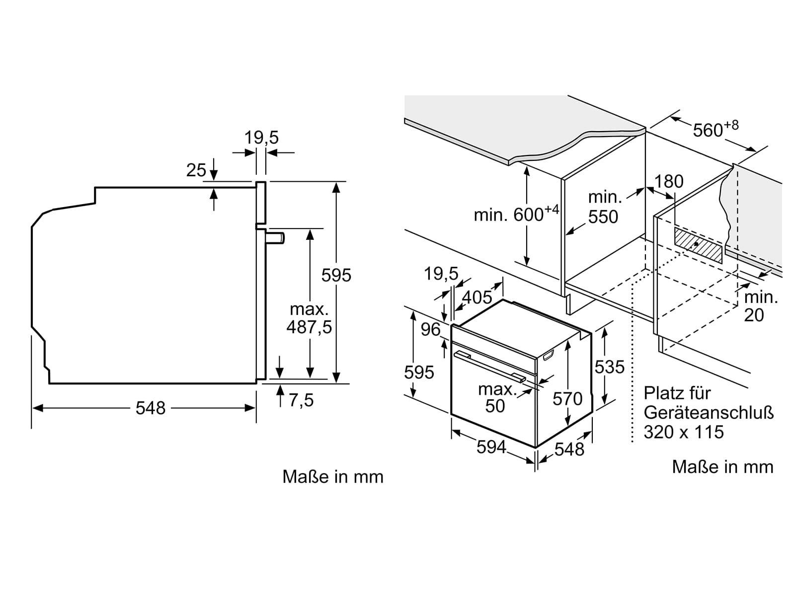 Bosch HND611LS65 Set Einbauherd HEB517BS0 + Glaskeramikkochfeld NKN645GA1E