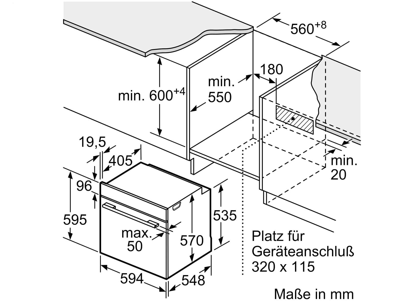 Bosch HEB578BS0 Pyrolyse Einbauherd Edelstahl