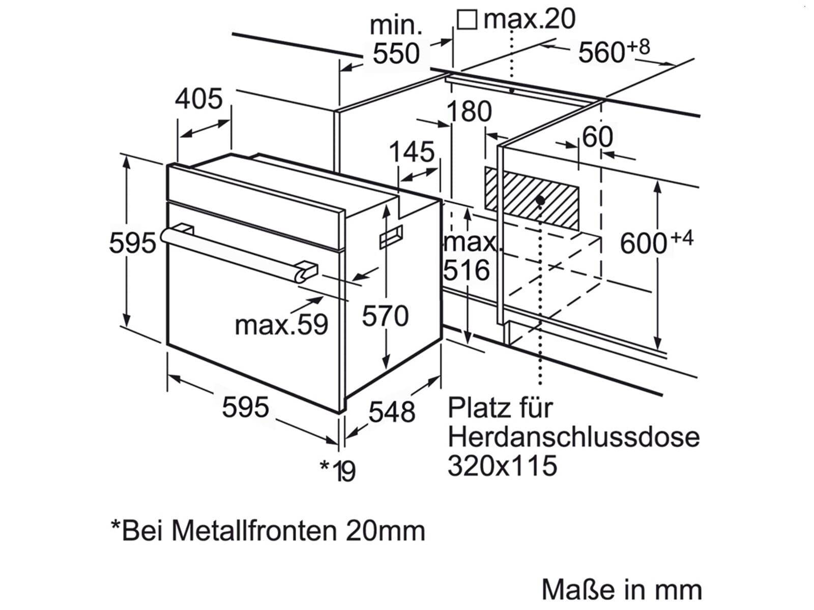 Bosch HND71PF56 Set Einbauherd HEB73D151  + Induktionskochfeld NXX645CB1E