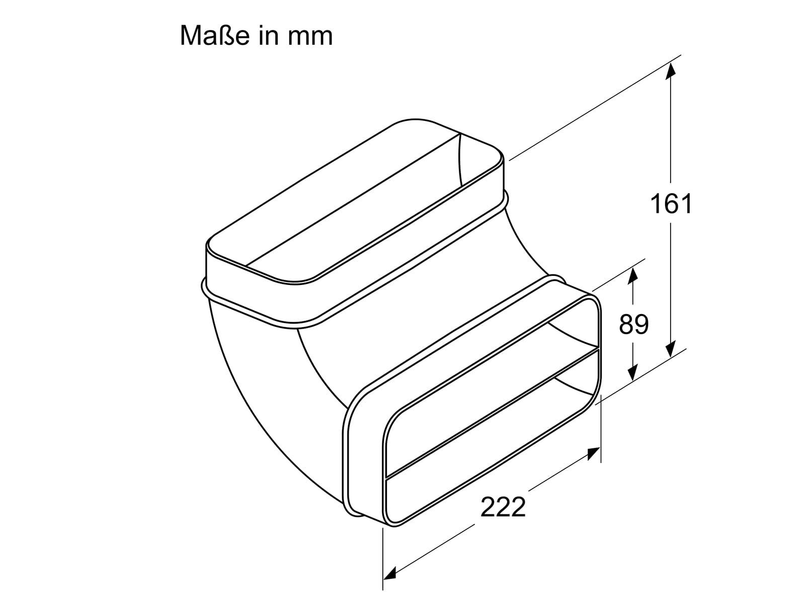 Bosch HEZ9VDSB2 Flachkanalbogen Vertikal 90°