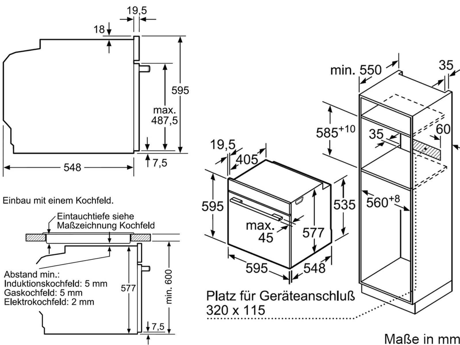Bosch HMG6764W1 Pyrolyse Backofen mit Mikrowelle Polar weiß