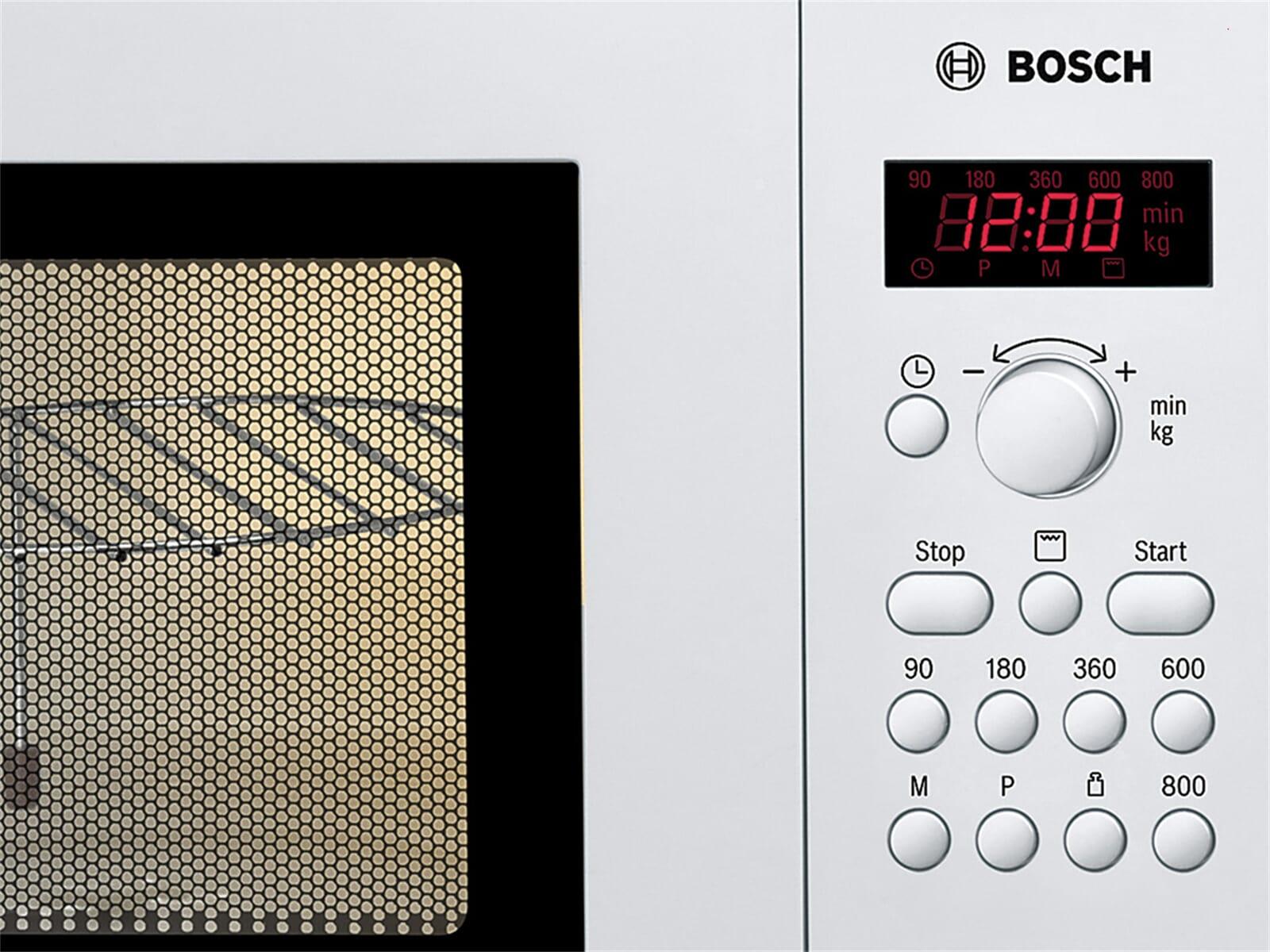 Bosch HMT75G421 Stand-Mikrowelle mit Grill Weiß