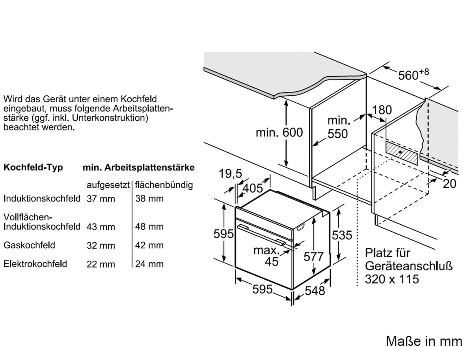 Bosch HNG6764W6 Pyrolyse Backofen mit Mikrowelle Polar weiß
